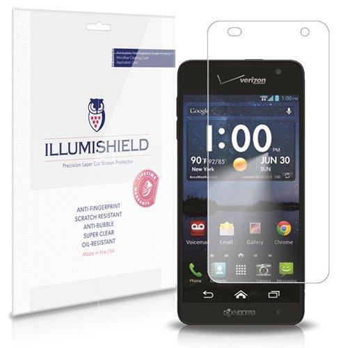 iLLumiShield Screen Protector Compatible with Kyocera Hydro Elite (C6750,Verizon)(3-Pack) Clear HD Shield Anti-Bubble and Anti-Fingerprint PET Film