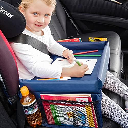 TRI Auto-Kindertisch, Autotisch für Kindersitz, Kindertisch klappbar, für Kinder, Rücksitz, 40x26x4,5 cm, faltbar