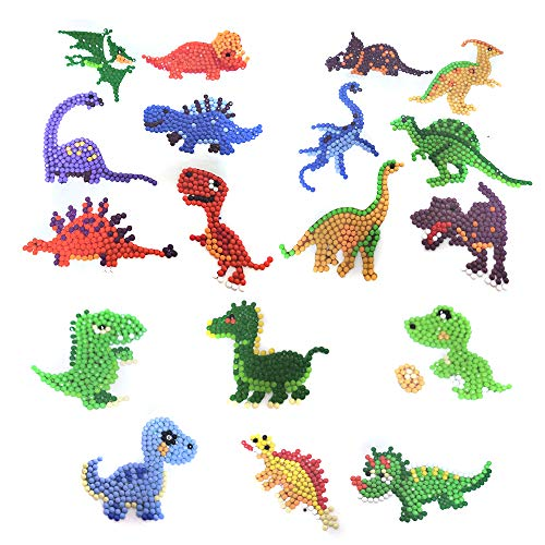LZHZH 5D DIY Diamond Painting Kits for Kids and Adult Beginners,9 PCS Dinosaur Stickers, Paint with Diamonds Kits Arts Crafts Easy to Paint Best Gift- Dinosaur