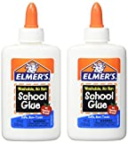 Elmers Washable No-Run School Glue, 4 oz, 1 Bottle (E304) - Pack of 2...