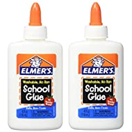 Elmers Washable No-Run School Glue, 4 oz, 1 Bottle (E304) - Pack of 2