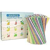 LessMo Pajitas de papel, 300 PCS pajas de beber reciclables | Ideal para...