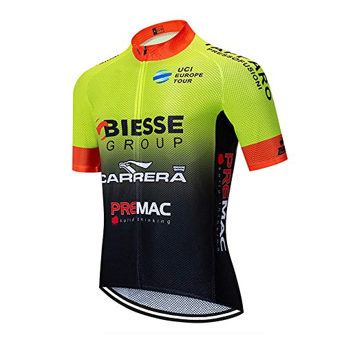 Verano Ropa Ciclismo Hombre, Camisas de Bicicleta de Montaña Ropa de Carreras Ropa Transpirable MTB Jersey