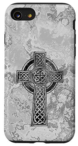 iPhone SE (2020) / 7 / 8 Old Celtic Cross Gothic Symbol - stone style 1 - Fan Fun Case