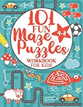Maze Puzzle Book for Kids 4-8: 101 Fun First Mazes for Kids 4-6, 6-8 year olds   Maze Activity Workbook for Children: Game...