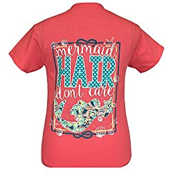 Girlie Girls Mermaid Hair Don't Care Short Sleeve T-Shirt - YOUTH