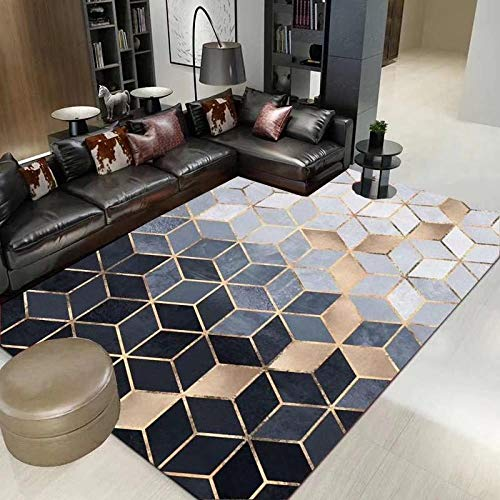 HXJHWB modern trendy design inspiratie multi - eenvoudig ruitenstiksel woonkamer sofa salontafel antislip kindertapijt
