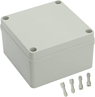 LeMotech Waterproof Dustproof IP67 Junction Box DIY Case Enclosure Gray 4.9