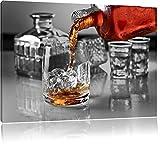 Whiskey im Whiskeyglas schwarz/weiß Format: 60x40 auf