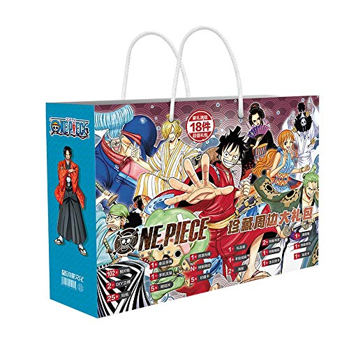 XXYL One Piece Series/Anime Gift Box Set/Anime Periphery/with Poster/Postcard/Sticker/Bookmark/Greeting Card/Metal Badge Etc. /Suitable for Adults, Children and Otaku