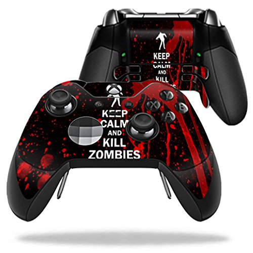 MightySkins Skin Compatible with Microsoft Xbox One Elite Controller - Kill Zombies   Protective, Durable, and Unique Vinyl wrap Cover   Easy to Apply, Remove, and Change Styles   Made in The USA