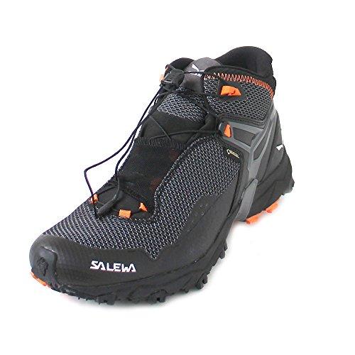 Salewa Herren MS Ultra Flex Mid Gore-TEX Traillaufschuhe, Black/Holland, 41 EU