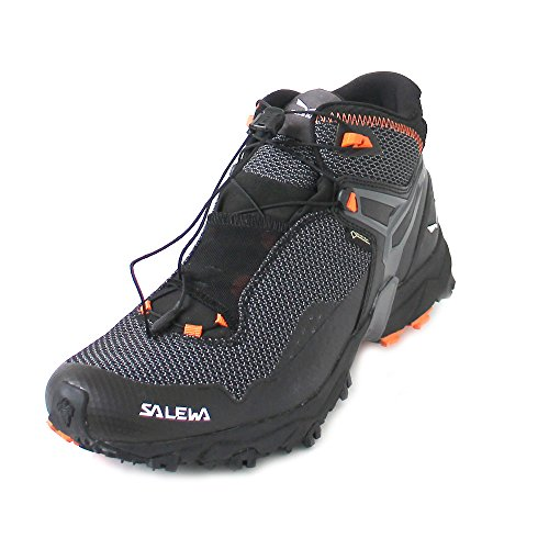Salewa Herren MS Ultra Flex Mid Gore-TEX Traillaufschuhe, Black/Holland, 42 EU