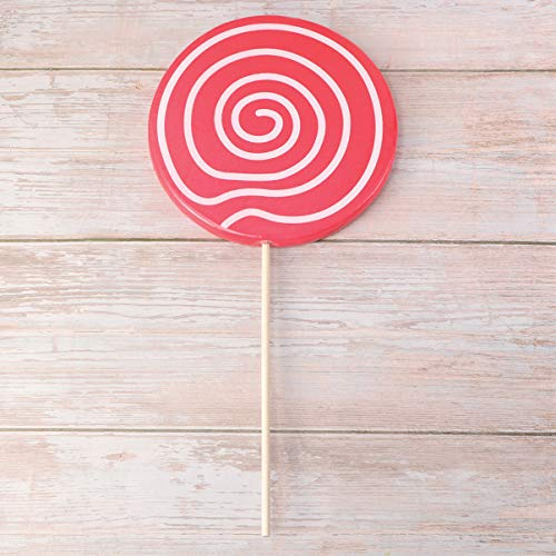 ABOOFAN 2 Unids Lollipop Prop Grandes Adornos de Caramelo Rojo Comida Falsa Accesorios de Fotos Festivas Carnaval Cosplay Boda Cumpleaños Juguete Suministros para Fiestas