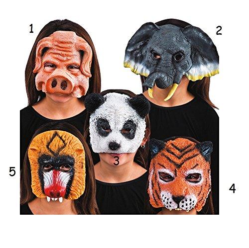 Masque Demi Visage Animal Cochon Mod3 - Halloween Anniverssaire - 994