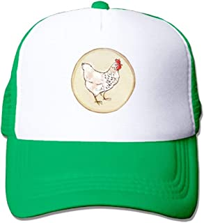Unisexo Gorras de béisbol/Sombrero, Two Tone Trucker Hat - Chicken Hand-Drawn-1 - Adjustable Mesh Hat