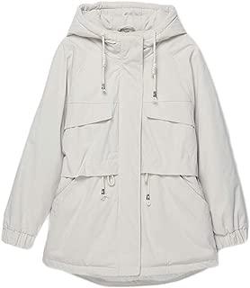 Women's Cotton Coat, Casual Fashion Long Coat, Winter Warm Padded Suit, (Color : White, Size : M)