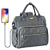 AvaMia Diaper Bag Backpack, Practical and Style Travel baby bag with Built-in USB Charging Port, Large Stylish Tote bag for Mon and Dad, baby bags for boys and girls, Classic Gray