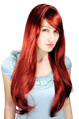WIG ME UP ® - 3111-35 Perücke, rot, lang, Scheitel, sexy Wig ca. 70cm
