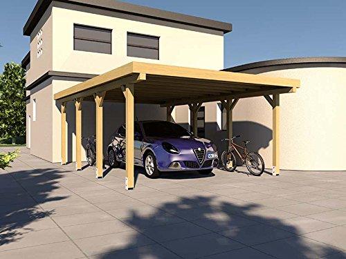 #Carport Flachdach SILVERSTONE XIV 400×600 cm Bausatz Flachdachcarport#