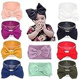 Baby Girl Diy Elastic Headbands Newborn Infant Toddler Big Bows Hairbands Children Soft Headwrap Hair Accessories (10pack-mul2)