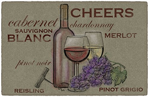 Brumlow Mills Watercolor Wine Area Rug for Kitchen, Dining, Bedroom, Living Room and Home Decor, 1'8