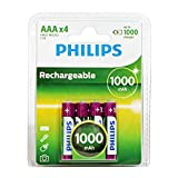 Philips MultiLife NiMH Rechargeable AAA Batteries 1000mAh 4PK