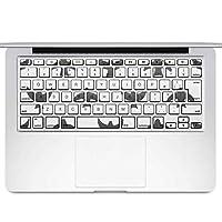 igsticker MacBook Air 13inch 2010 ~ 2017 専用 キーボード用スキンシール キートップ ステッカー A1466 A1369 Apple マックブック エア ノートパソコン アクセサリー 保護 050485