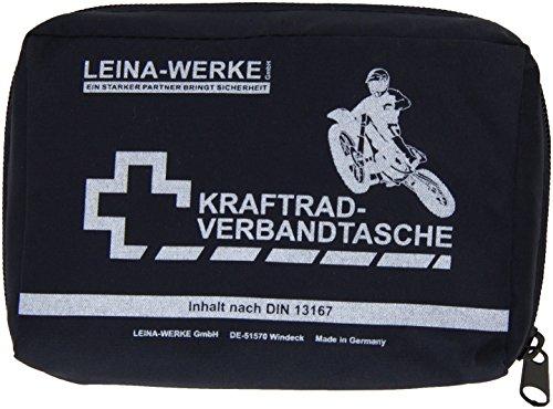 Leina 17013 de Kit de Premiers Secours pour Moto de Type II avec Fermeture Velcro, Bleu/Blanc