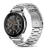 Tasikar 20mm Cinturino Compatibile con Cinturino Huawei Watch GT2 42mm/Samsung Galaxy Watch 4/Active 2 40mm 44mm, Acciaio Inossidabile Cinturini di Ricambio per Galaxy Watch 3 41mm/Active - Argento