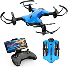 DROCON Ninja Drone for Kids & Beginners FPV RC Drone with 1080P FHD Wi-Fi Camera, Quadcopter Drone with Altitude Hold, Headless Mode, Foldable Arms, One Key Take Off/Landing, Blue