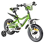 Kawasaki bicicleta infantil juniso 12pulgadas KBX verde, freno de contrapedal