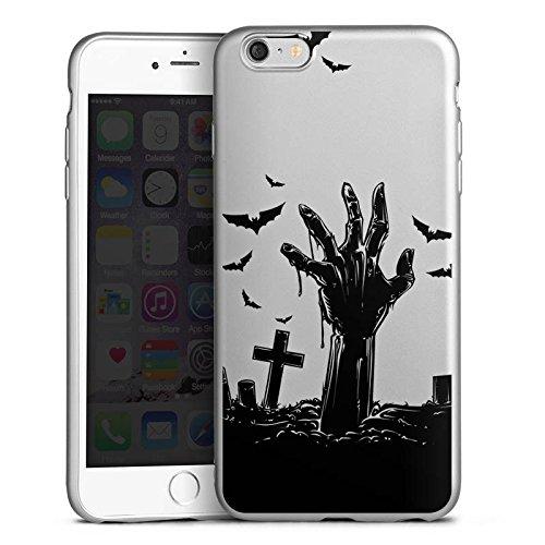 DeinDesign Apple iPhone 6 Plus Silikon Hülle Silber Case Schutzhülle Zombie Halloween ohne Hintergrund