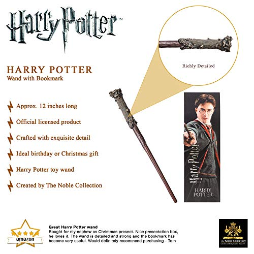 The-Noble-Collection-Harry-Potter-Toy-Wand-12-inch-30-cm-PVC-Harry-Potter-Wand-With-Prismatic-Bookmark-Officially-Licensed-Harry-Potter-Film-Toy-Wand