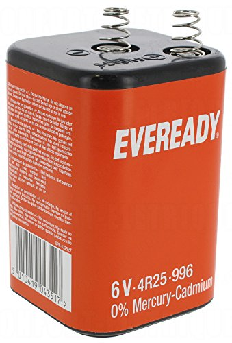 Eveready 4R25 6v Carbon zinco Battery