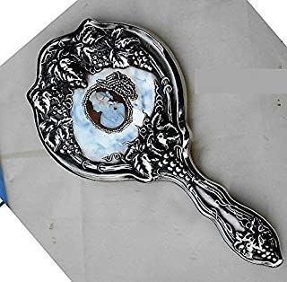 sterling silver art nouveau hand mirror