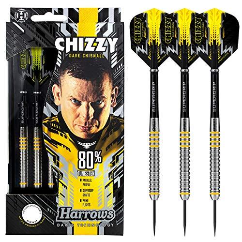 Harrows Steel Darts Dave Chisnall Chizzy 80% Tungsten Steeltip Dart Steeldart (25 Gr)