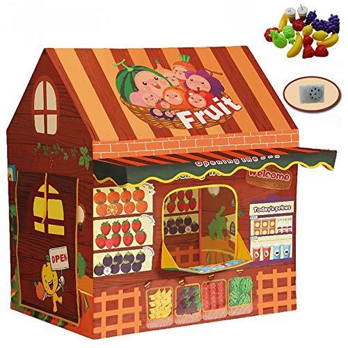 Veelzijdige kindertent Binnenlandse Tent Speeltuin Tent Buiten For De Kinderen Het Kasteel Binnen Buiten Kerstversiering Camping Tent Met Handtas (Color : C1, Size : As shown)