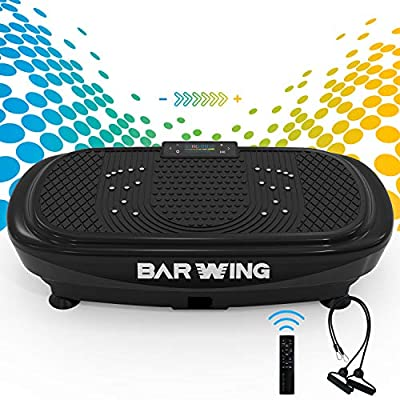 BARWING Vibration Plate Exercise Machine- 4D Vibration Platform Machine for Home Workouts with Resistance Bands and Remote Control