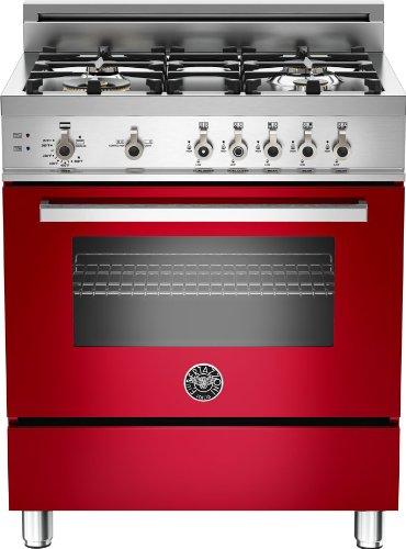 PRO304GASROLP | Bertazzoni Professional 30 Gas Range, 4 Burners, Liquid Propane - Rosso Red