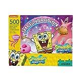 AQUARIUS SpongeBob SquarePants Imagination Puzzle (500 Piece Jigsaw Puzzle) - Officially Licensed SpongeBob Merchandise & Collectibles - Glare Free - Precision Fit - Virtually No Puzzle Dust - 14x19In