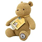 Official Disney Winnie The Pooh Teddy Bear - Knitted Classic Winnie The Pooh Soft Toy - Pooh Bear Toddler & Baby Plush Toys by Rainbow Designs