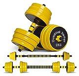 Shengluu Mancuerna para Hombres Mujeres Equipos De Fitness En Casa Entrenamiento De Fuerza con Biela Utilizada como Barra, 22 Libras (Color : 44 Lbs)