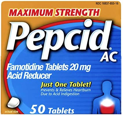 Pepcid AC, Maximum Strength 20mg Famotidine, 50 ct
