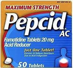 Pepcid AC, Maximum Strength 20mg Famotidine, 50 ct