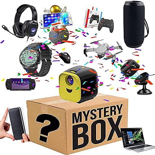 OMKMNOE Mystery Electronic Box, Überraschungspaket, Elektronisch Überraschungspaket, Restposten Paket,Zufällig,Schwarz