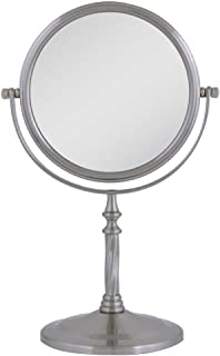 Zadro Two-Sided Vanity Swivel Mirror, Satin Nickel (Certified Refurbished)