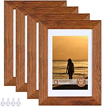 4-Pack Hongkee 4 x 6 Inch Rustic Picture Frame
