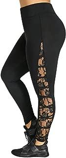 Fashion Women Yoga Leggings Lace Plus Size Skinny Sport Pants Exercise Trousers