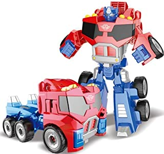 Robot Model Deformation Robot Car Model Toy Puzzle Educational Toy Christmas Gifts for Boys Red